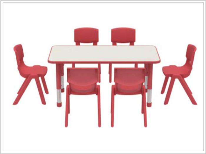 mesas escolares kala roja con sillas