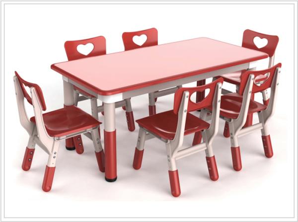 mesa ronda color rojo