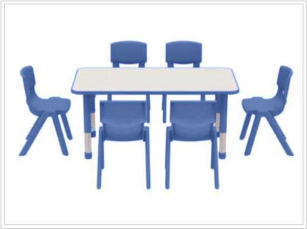 mesas escolares kala azul con sillas