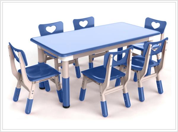 mesa ronda azul